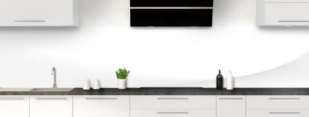 Crédence de cuisine Ombre et lumière couleur blanc panoramique motif inversé