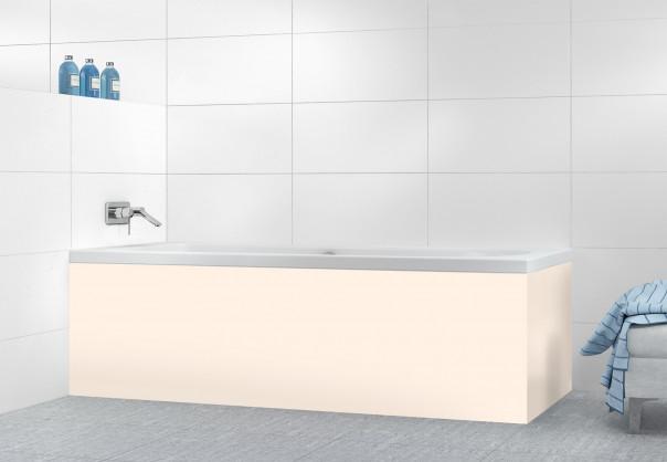 Panneau tablier de bain Ivoire Glossy