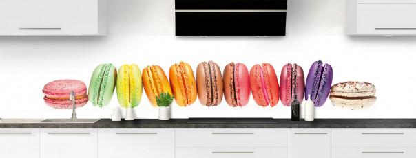 Crédence de cuisine Macarons panoramique
