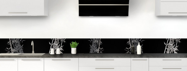 Crédence de cuisine Bambou zen couleur noir dosseret