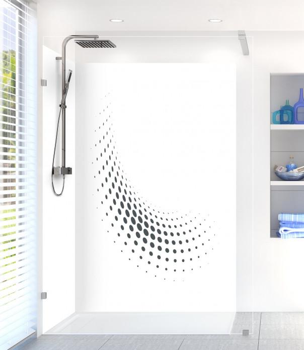 Panneau de douche Nuage de points couleur gris carbone