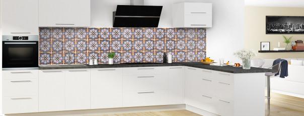 Crédence de cuisine Carreaux de ciment mosaïque panoramique en perspective