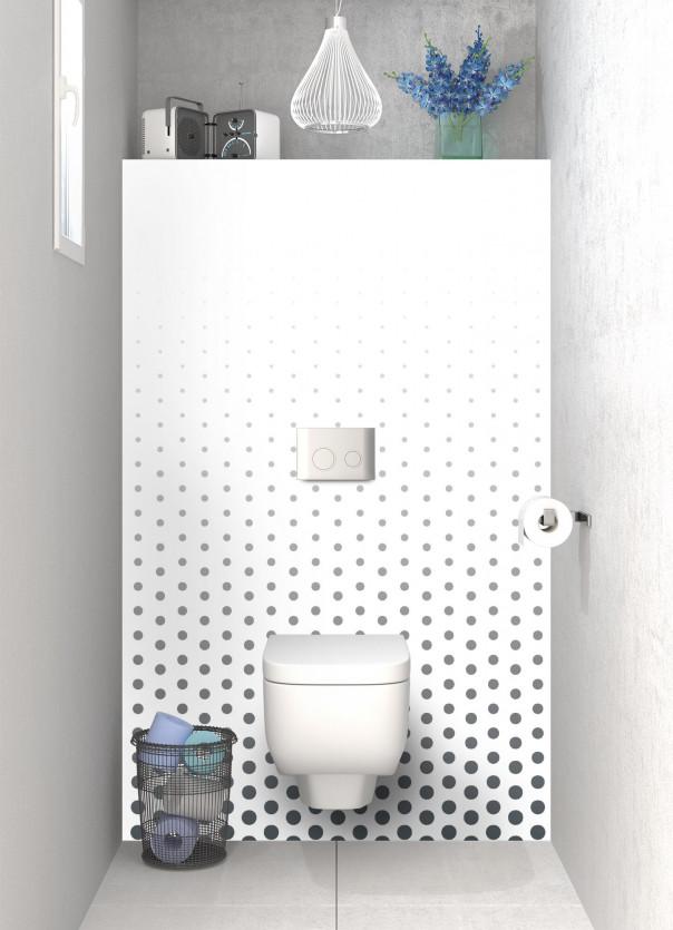 Panneau WC Pluie de points couleur gris carbone