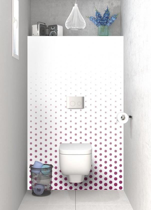 Panneau WC Pluie de points couleur prune