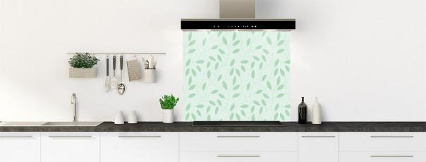 Crédence de cuisine Rideau de feuilles couleur vert eau fond de hotte