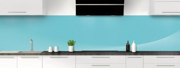 Crédence de cuisine Ombre et lumière couleur bleu lagon panoramique motif inversé