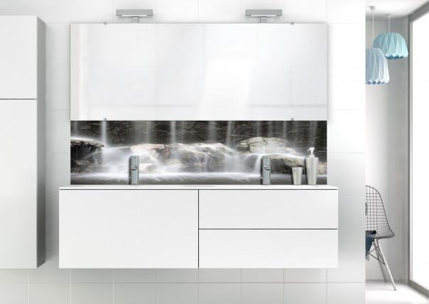 Panneau vasque Chutes d'eau N&B motif inversé