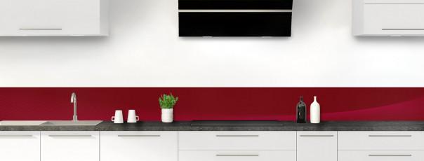 Crédence de cuisine Ombre et lumière couleur rouge pourpre dosseret motif inversé