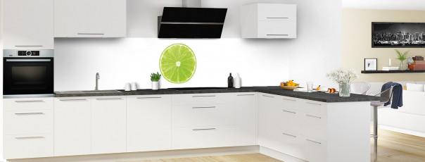 Crédence de cuisine Citron vert panoramique en perspective