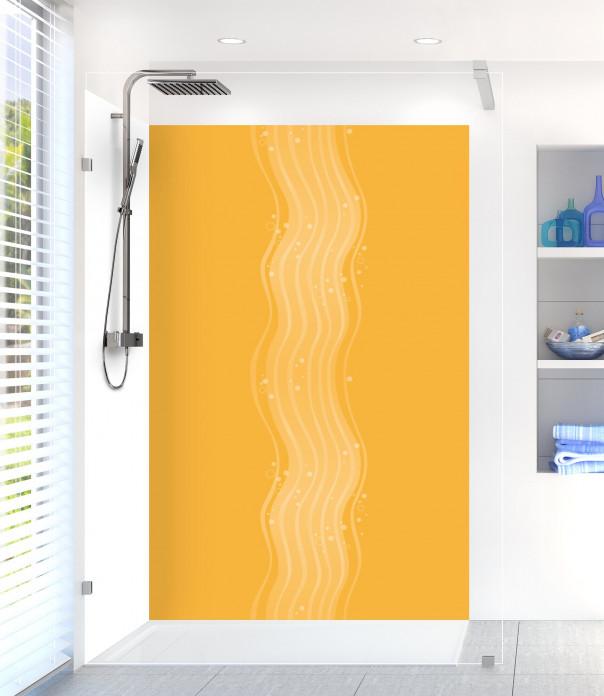 Panneau de douche Vagues design couleur abricot
