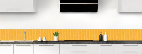 Crédence de cuisine Pointillés couleur abricot dosseret