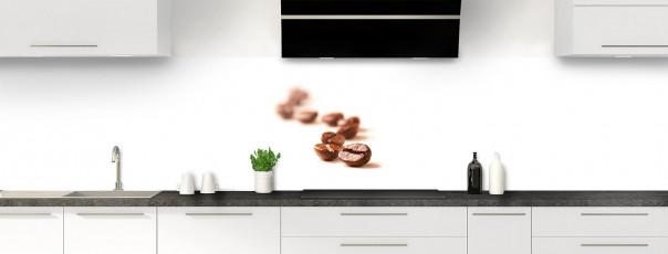 Crédence de cuisine Grains de café panoramique motif inversé
