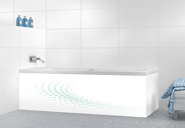 Panneau tablier de bain Nuage de points couleur vert pastel motif inversé