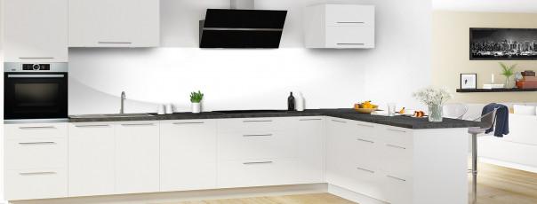 Crédence de cuisine Ombre et lumière couleur blanc panoramique en perspective