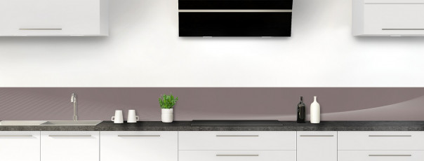 Crédence de cuisine Ombre et lumière couleur taupe dosseret motif inversé