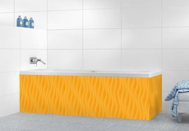 Panneau tablier de bain Ondes couleur abricot