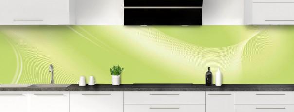 Crédence de cuisine Volute couleur vert olive panoramique motif inversé
