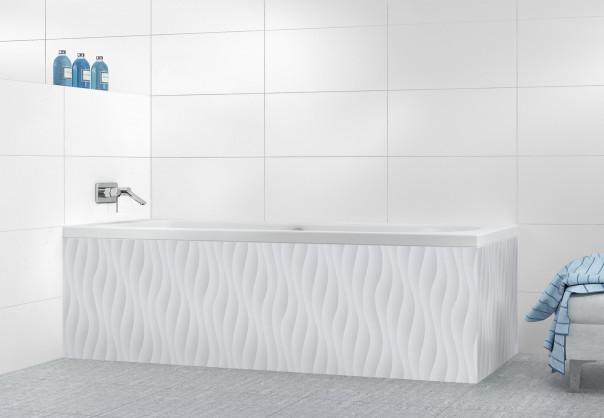 Panneau tablier de bain Ondes couleur gris clair