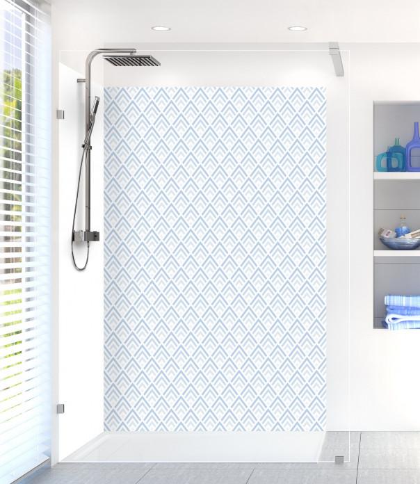 Panneau de douche Ecailles  couleur bleu azur
