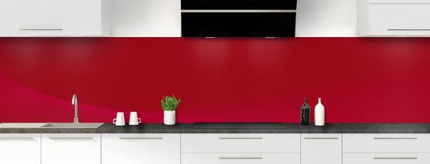 Crédence de cuisine Ombre et lumière couleur rouge carmin panoramique