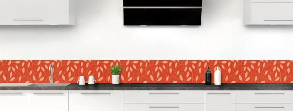 Crédence de cuisine Rideau de feuilles couleur rouge brique dosseret