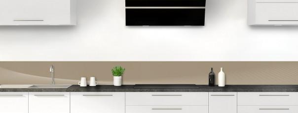Crédence de cuisine Ombre et lumière couleur marron glacé dosseret