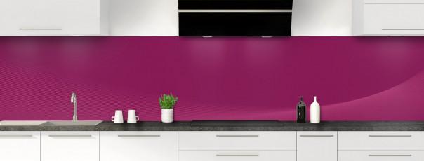 Crédence de cuisine Ombre et lumière couleur prune panoramique motif inversé
