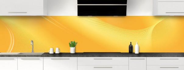 Crédence de cuisine Volute couleur abricot panoramique motif inversé