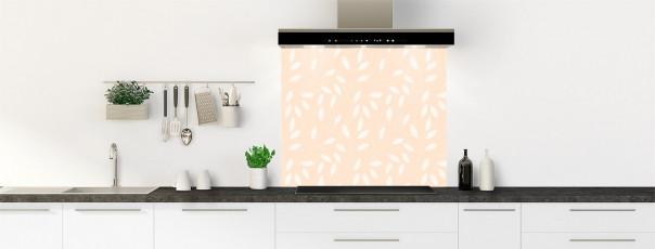 Crédence de cuisine Rideau de feuilles couleur sable fond de hotte