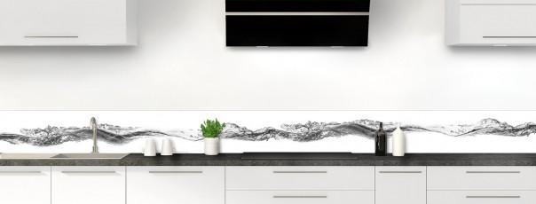 Crédence de cuisine Water Splash Noir dosseret motif inversé