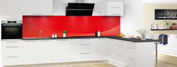 Crédence de cuisine Ombre et lumière couleur rouge vif panoramique motif inversé en perspective