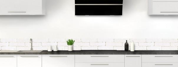 Crédence de cuisine Mur briques blanches dosseret