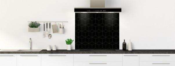 Crédence de cuisine Cubes en relief couleur noir fond de hotte