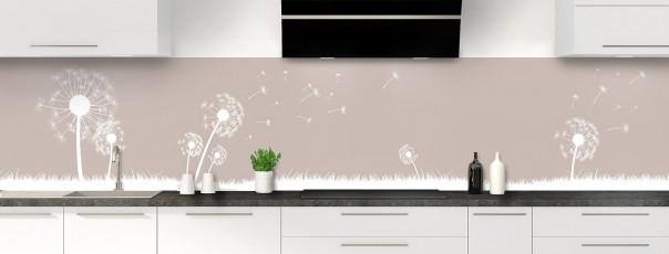 Crédence de cuisine Pissenlit au vent couleur argile panoramique