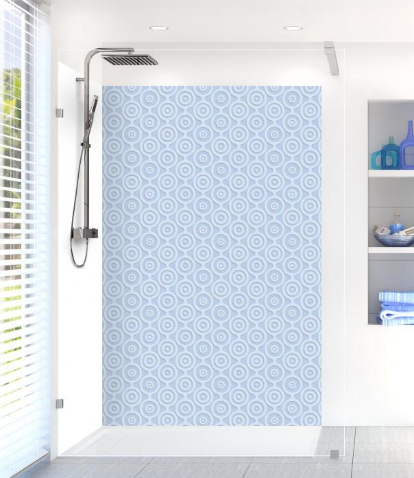 Panneau de douche Papier peint rétro couleur bleu azur