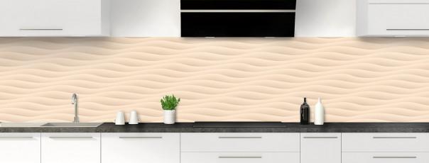 Crédence de cuisine Ondes couleur sable panoramique
