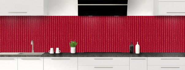 Crédence de cuisine Pointillés couleur rouge carmin panoramique