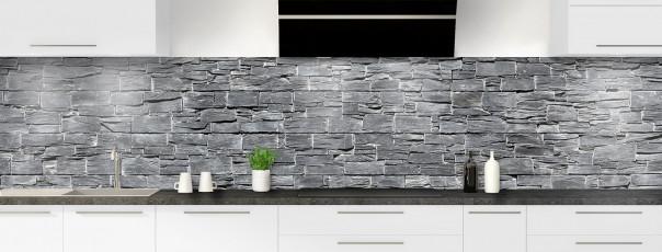Crédence de cuisine Briques d'ardoise panoramique