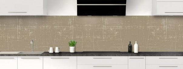 Crédence de cuisine Ardoise rayée couleur marron glacé panoramique