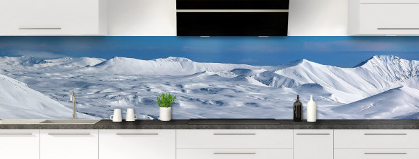Crédence de cuisine Montagnes enneigées couleur panoramique motif inversé