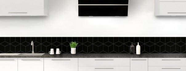 Crédence de cuisine Cubes en relief couleur noir dosseret