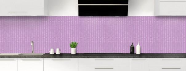 Crédence de cuisine Pointillés couleur parme panoramique