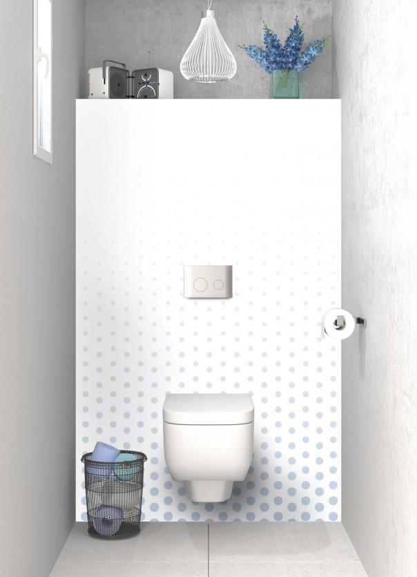 Panneau WC Pluie de points couleur bleu azur