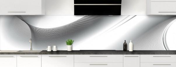 Crédence de cuisine Volute couleur blanc panoramique