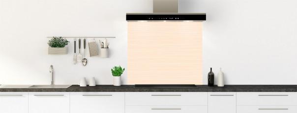 Crédence de cuisine Lignes horizontales couleur sable fond de hotte