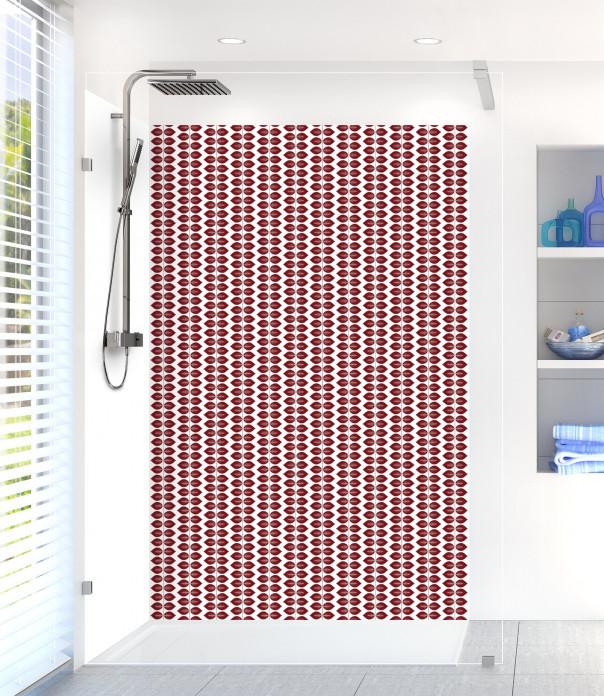 Panneau de douche Petites Feuilles  couleur rouge pourpre