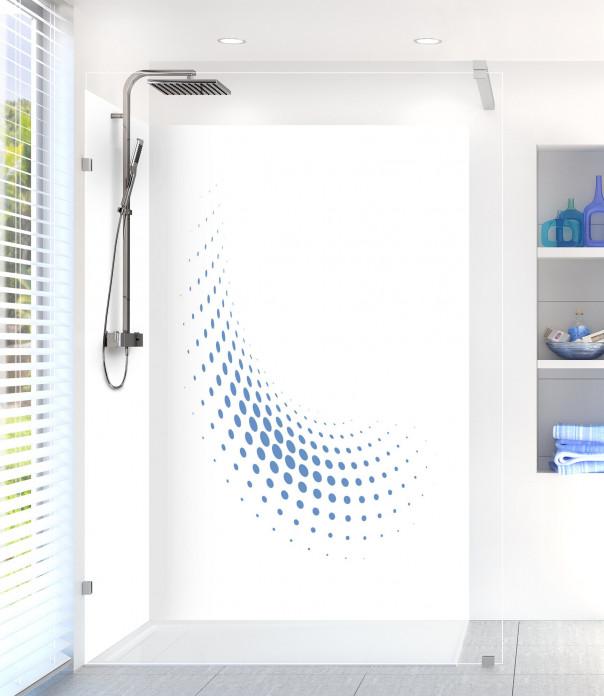Panneau de douche Nuage de points couleur bleu lavande