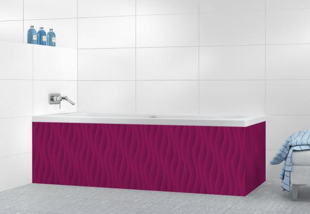 Panneau tablier de bain Ondes couleur prune