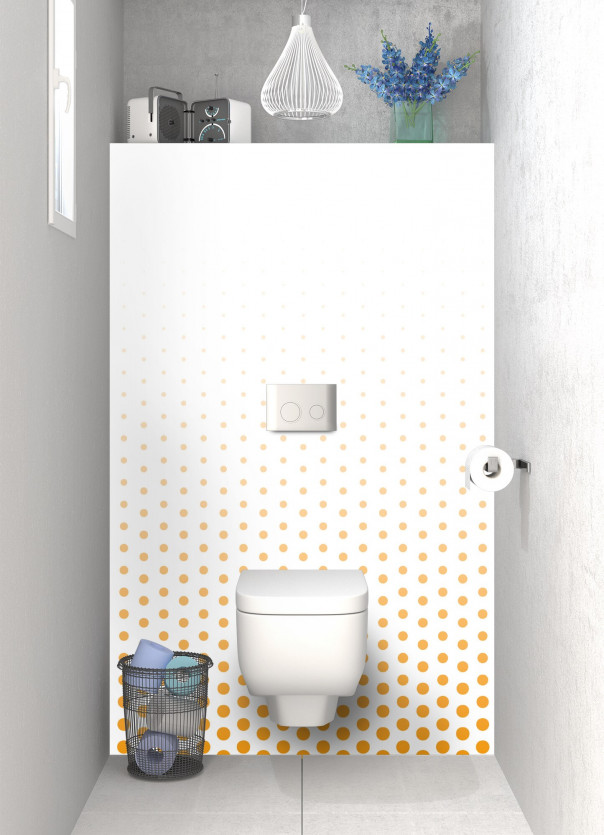 Panneau WC Pluie de points couleur abricot