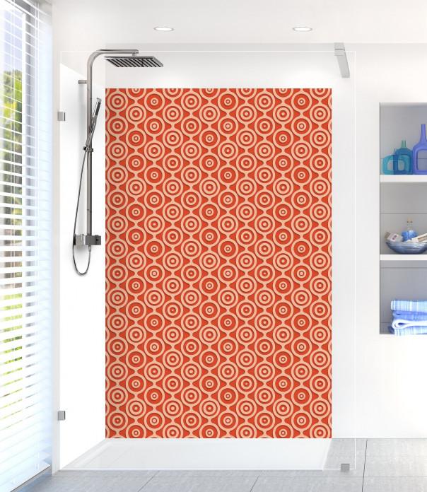 Panneau de douche Papier peint rétro couleur rouge brique